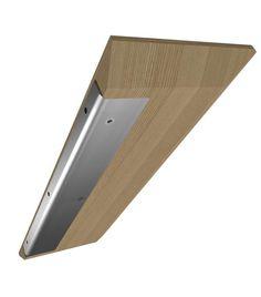 The shelf / L'étagère murale TABULA. Objet en lévitation, Tabula est idéale pour mettre en valeur et ranger différents effets (livres, vases, bougies…). En vide-poche dans une entrée, comme espace d'exposition et de rangement dans un salon ou au-dessus d'un bureau, elle peut aussi faire office de chevet suspendu. Son système de fixation invisible en inox brossé permet un montage rapide et aisé (chêne clair français PEFC - dimensions 'à la carte' - modèles standard, vide-poche ou rainuré).