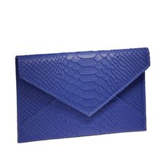 -Indigo Medium Envelope - Embossed Python