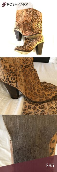 Bought in Brazil! Cheetah mid calf boots Cheetah booties! Soooo cute. Pair with a skirt or some jeans! Made extremely well. Would keep them forever, but my closet is too full of boots! (I have an obsession) Shoes Heeled Boots