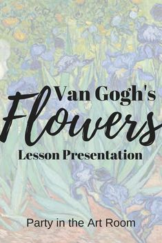 This has EVERYTHING you need to teach students to analyze Van Gogh's flowers as well as draw their own irises work. Art Lessons For Kids, Art For Kids, Vincent Van Gogh, History For Kids, Art History, Van Gogh For Kids, Van Gogh Flowers, Creative Activities For Kids, Creative Kids