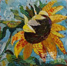 use newspapaer, mixed media, link to Van Gogh, friendship
