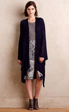 Bamboo Pointelle Poncho #anthrofave