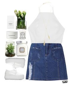 """#yoins"" by credentovideos ❤ liked on Polyvore featuring rag & bone, Byredo, Laura Mercier, LSA International, Nails Inc. and Diptyque"