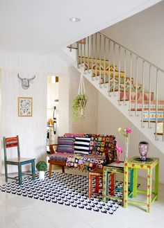 My home featured in Nylon Japan magazine. Room Inspiration, Interior Inspiration, Living Room Decor, Living Spaces, Style Cottage, Colourful Living Room, Deco Boheme, Interior Decorating, Interior Design