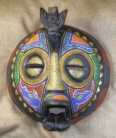 African Masks - Baluba Mask 45 - Front - Click to return to the top of the page.
