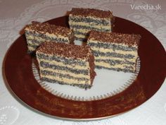 Bezlepkové makové rezy (fotorecept) - Recept Tiramisu, French Toast, Dessert Recipes, Food And Drink, Gluten Free, Baking, Eat, Breakfast, Ethnic Recipes