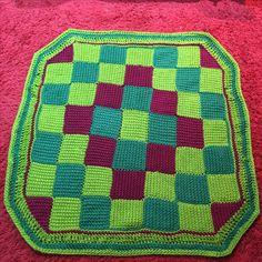 Tunisian Entrilac lap blanket.