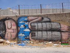 Art of resistance.  Graffiti on apartheid wall in Aida Refugee Camp, Bethlehem