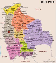 Tourist Map And Information Of Bolivia Tourismbolivia BOLÍVIA - Bolivia map