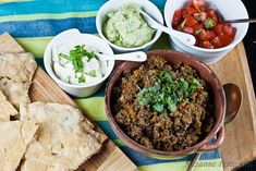 Pita Bread and Mexican Spread – grain-free & fructose intolerant friendly .  Lots of Savory Spices here!