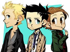 Balthy, Cas and Gabe. MY BBYs.