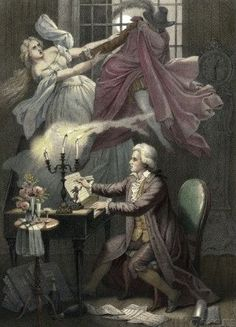 Mozart Composes Act 1 of the Opera Don Giovanni by Theodor Mintrop