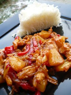 Pineapple chicken, too good ! - The Ginia Tavern - cuisine - Asian Recipes Easy Chinese Recipes, Healthy Chicken Recipes, Lunch Recipes, Meat Recipes, Asian Recipes, Healthy Dinner Recipes, Crockpot Lunch, Healthy Lunches For Kids, Pineapple Chicken