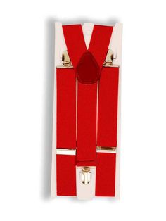 Halloween Red Suspenders Costume Accessory