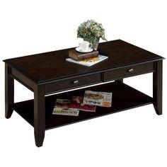 Crosley Furniture Brooke Washed Oak Coffee Table $239 ❤ liked on