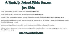 6 Back to School Bible verses for kids
