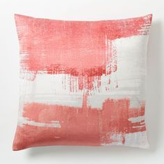 Painterly Texture Pillow Cover - Poppy | west elm