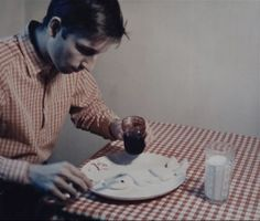 Bruce Nauman, Eating My Words from Eleven Color Photographs, 1966-67/70.