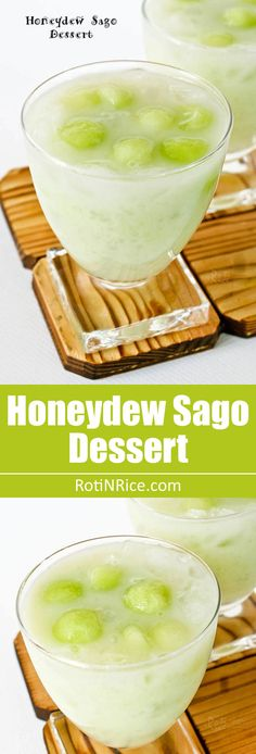 Nothing beats a glass of this cool refreshing Honeydew Sago Dessert with coconut milk on a warm summer's day. Big on taste and very easy to prepare. | RotiNRice.com