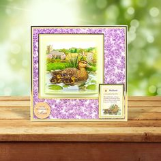This card was made using the 'Spotted Flycatcher & Mallard' topper set from the Birds of Britain Collection