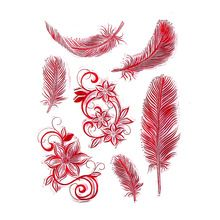 CCINEE Color Feather Style One Sheet Stamp VASE Design Seal For DIY Scrapbooking/Card Making/ Decoration Supplies(China (Mainland))