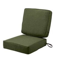 Give a pop of color to your cushions by using Classic Accessories Montlake FadeSafe Heather Fern Green Outdoor Lounge Chair Seat Cushion with Back Cushion. Outdoor Lounge Chair Cushions, Patio Cushions, Seat Cushions, Custom Outdoor Cushions, Green Cushions, Cushion Fabric, The Help, Classic, Fashion Forward