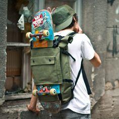 """The """"Scumbag"""" pack! mochila taquilla para irse de viaje con la patineta."""