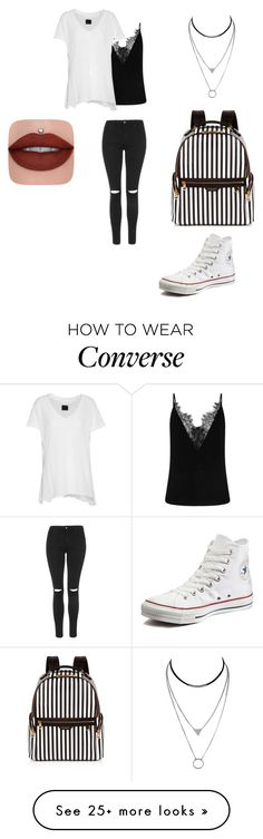 """""""Senza titolo #1063"""" by charlottehora on Polyvore featuring RtA, Topshop, Henri Bendel and Converse"""