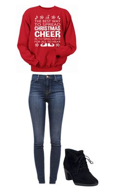 """Christmas cheer"" by lammasxxx ❤ liked on Polyvore featuring J Brand and Clarks"