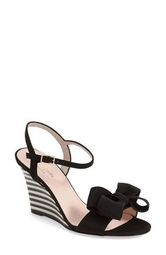 kate spade new york 'iballa' grosgrain bow wedge sandal (Women) available at #Nordstrom