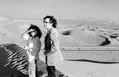 Christo and Jeanne-Claude during their first trip to the United Arab Emirates, February 1979
