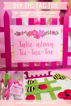 DIY Tic-Tac-Toe for WellieWishers Inspired Party Favors…