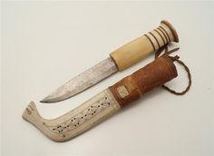 Äldre halvhornskniv signerad FNP på Tradera.com - Knivar från