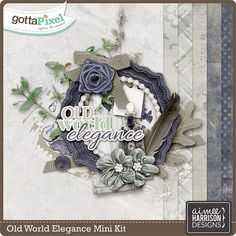Old World Elegance Mini :: Gotta Pixel Digital Scrapbook Store by Aimee Harrison $2.99