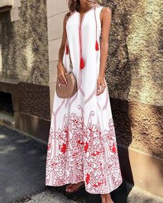 AMhomely Womens Dresses Casual Peacock Feather Print Thigh Slit Slip Dress Ladies Summer Stripe Maxi Dress