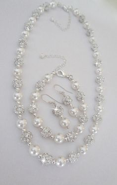 Collar de perlas joyería de la boda joyería por QueenMeJewelryLLC