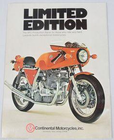 1975 Advertisement Laverda SFC Racer Continental Motorcycle Magazine Ad