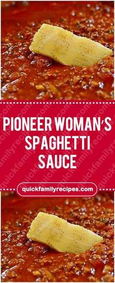 Pioneer Woman's Spaghetti Sauce – Quick Family RecipesYou can find Pioneer woman recipes and more on our website.Pioneer Woman's Spaghetti Sauce – Quick Family Recipes Pioneer Woman Spaghetti Sauce, Pioneer Woman Pasta, Pioneer Woman Recipes, Pioneer Woman Meat Sauce Recipe, Pioneer Woman Hamburger Soup, Sloppy Joe Recipe Pioneer Woman, Pioneer Woman Lasagna, The Pioneer Woman, Pioneer Women