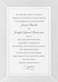 Embossed double bordered warm white wedding invitations timeless wedding invitations with embossed borders stopboris Choice Image