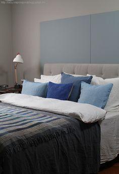 Male soverommet_Linblå_LADY Comforters, Sweet Home, Blanket, Colour, Lady, Inspiration, Furniture, Bedrooms, Palette
