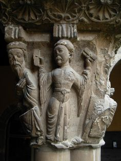 Capitel romanico de la Catedral de Tudela,siglo XII.