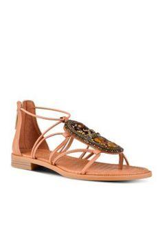 Nine West Dark Natural Grinning Sandals