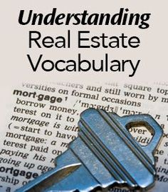 Understanding Real Estate Vocabulary - helpful for new buyers & sellers. Real Estate Career, Real Estate Business, Selling Real Estate, Real Estate Tips, Real Estate Investing, Real Estate Marketing, Real Estate Information, First Time Home Buyers, Investment Property