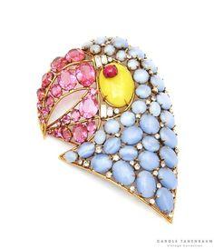 Beautiful 1980's Iradj Moini parrot brooch.  #vintagecostumejewelry #iradjmoini #ctvc