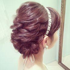 #ヘアスタイル #ヘアアレンジ#ヘアセット#髪型#ヘアメイク #トリートドレッシング #結婚式#ウェディング#花嫁#bridal