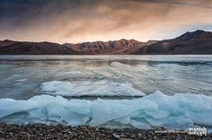Nothing burns like the cold but only for a while. Then it gets inside you slowly slowly and starts to fill you up with feelings and after a while you don't have the strength to fight with cold and at you will fall in love with ice. . Beautiful morning sunrise over a frozen Pangong Lake during mid winter. Yes I must say Im in love with beauty of ice though it melts in summer but next winter I found it more intense. So you think ice talks? Yea it does talk with you but you have to come back…