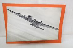 Vintage WWII Plane Picture and Statistics Boeing 4 Engine Flying Fortress B.17C Bomber USA by KansasKardsStudio on Etsy