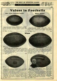 1929 PAPER AD 3 PG Wilson Knute Rockne Football Uniform Leather Helmet Jersey