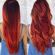 Left or right? Obsessed with this colour  @violetthestylist