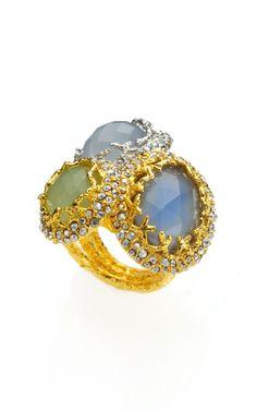 Siyabona Gold Cerulean Stacked Ring by Alexis Bittar - Moda Operandi